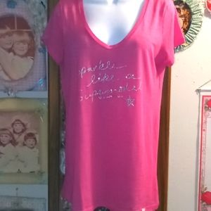 NWOT Victoria's Secret Sparkle T-Shirt